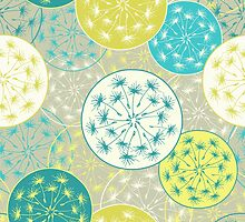Pattern with dandelion flowers by olgart