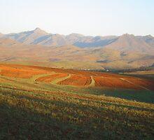 an amazing Lesotho landscape by beautifulscenes