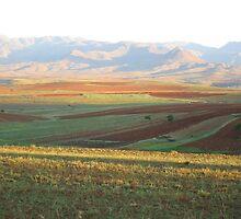 a sprawling Lesotho landscape by beautifulscenes