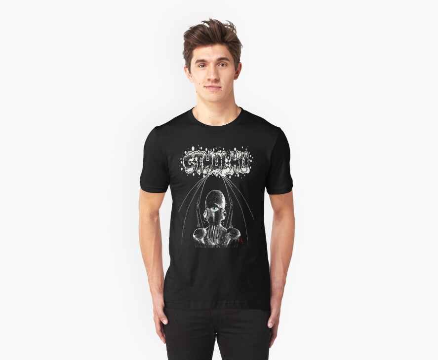 Caryatid Cthulhu Tee by Pete Janes