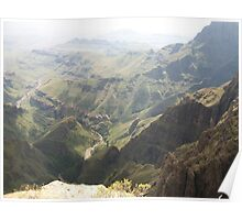 a colourful Lesotho landscape Poster