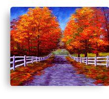 New England Autumn Drive Canvas Print