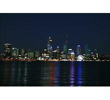 Night Lights - Perth Western Australia Photographic Print