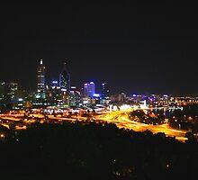 City Lights - Perth, Western Australia by Leanne Allen