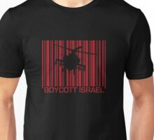 Boycott Israel_punch_out_red (heli version) Unisex T-Shirt