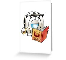 portal Wheatley studies ? for real! Greeting Card