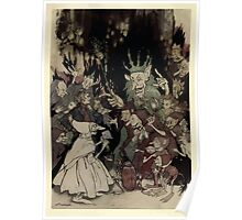 Peer Gynt A Dramatic Poem by Henrik Ibsen art Arthur Rackham 19xx 0008 Peer Before the King of Trolls Poster