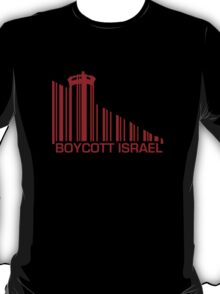 Boycott Israel (wall version) RED T-Shirt