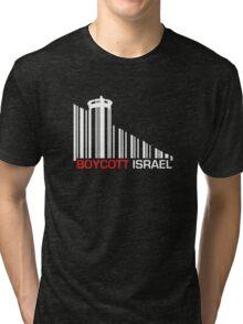 Boycott Israel NEG (wall version) Tri-blend T-Shirt