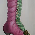 Watercolor boots, Oil painting, sketch , fashion design by diasha
