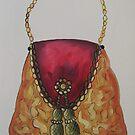Watercolor handbag, Oil painting, sketch , fashion design by diasha