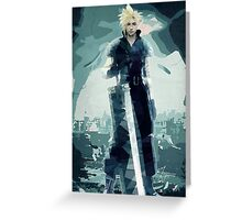 Cloud FF7 Greeting Card