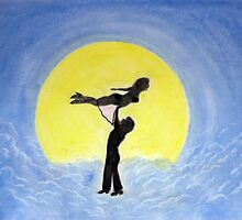 Swayze to the Moon by Edmond  Hogge