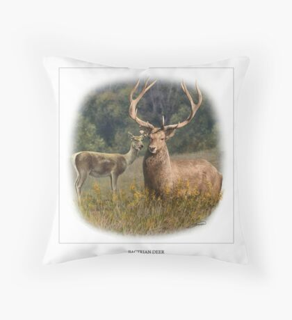 BACTRIAN DEER Throw Pillow