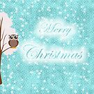 teal christmas owl 2 by studenna