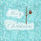 teal christmas owl  by studenna