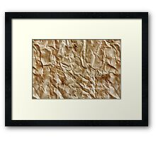 Paper texture Framed Print