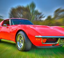 Red Corvette by Clintpix