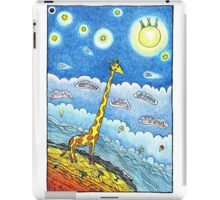 Funny giraffe meet aliens iPad Case/Skin