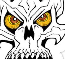 Horned Demon Skull Sticker