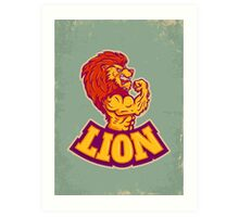 Lion bodybuilder Art Print