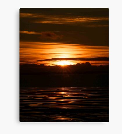green hills sunset Canvas Print