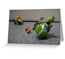 Yoshi vs Bowser Greeting Card
