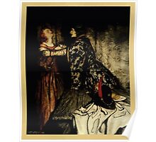 The romance of King Arthur and his knights of the Round Table art Arthur Rackham 1917 0203 Tristram & Isolde with Love Drink Poster
