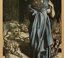 Siegfried & The Twilight of the Gods by Richard Wagner art Arthur Rackham 1911 0065 Mime and the Wanderer by wetdryvac