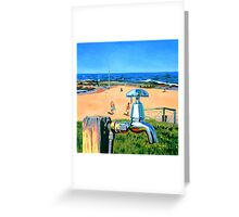 Tap on the Beach Greeting Card