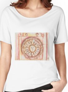 The Sun. stone symbols in the cloister. Jerónimos Monastery Women's Relaxed Fit T-Shirt