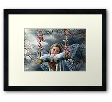 Sad fairy Framed Print