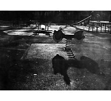 Playground in The Winter Sun Photographic Print