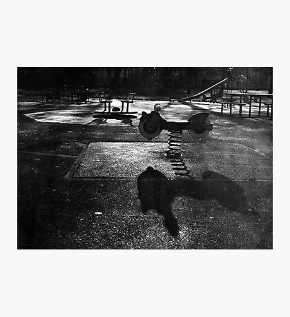 Playground in The Winter Sun Photographic Print