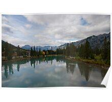 The turquoise lake - Banff, Alberta Poster
