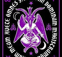 Satanic Baphomet with latin Hail Satan Text by TropicalToad