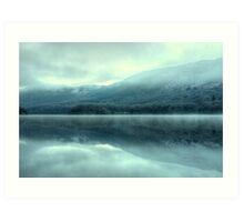 Mist on Coniston Water Art Print