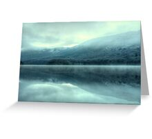 Mist on Coniston Water Greeting Card