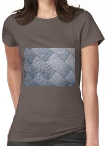 Fragment of gray decorative wall Womens Fitted T-Shirt