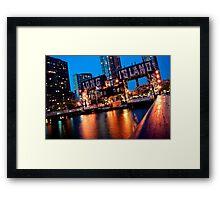 Long Island City Gantries Framed Print