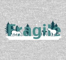 Fragile - polar bears arctic scene One Piece - Long Sleeve