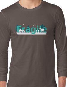 Fragile - polar bears arctic scene Long Sleeve T-Shirt