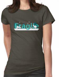 Fragile - polar bears arctic scene Womens Fitted T-Shirt