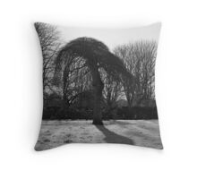 Tree In A Freeze Throw Pillow