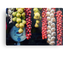 Beauty in tomatoes, garlic and pears Metal Print