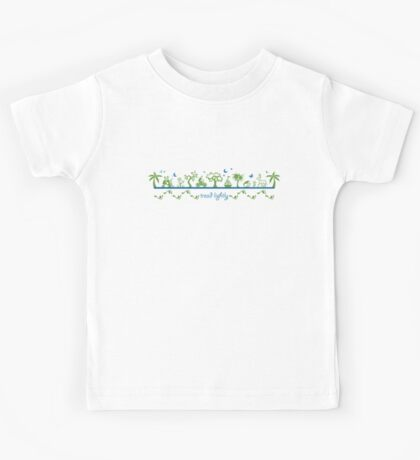 Tread lightly - version 2 Kids Tee