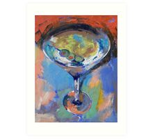 Martini Oil Painting Art Print