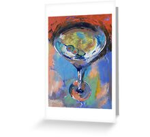 Martini Oil Painting Greeting Card