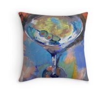 Martini Oil Painting Throw Pillow