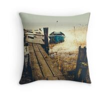 Crooked fisherman Throw Pillow
